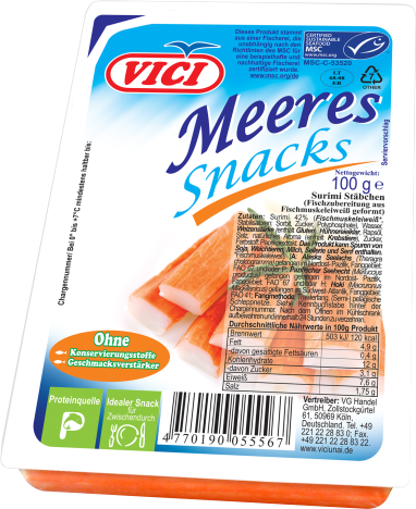 Surimi-Sticks, 100 g, MSC
